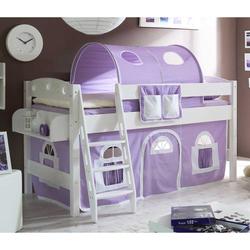 Halbhochbett für Mädchen Weiß Lila