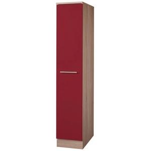 wiho Küchen Apothekerschrank Montana Auszug mit 4 Ablagefächern rot