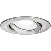PAULMANN Nova Plus Bad-Einbauleuchte LED Einbaustrahler dimmbar schwenkbar rund GU10 Eisen (gebürstet)