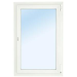 Solid Elements Kunststofffenster Eco Line  (B x H: 90 x 120 cm, DIN Anschlag: Rechts, Weiß) + BAUHAUS Garantie 5 Jahre