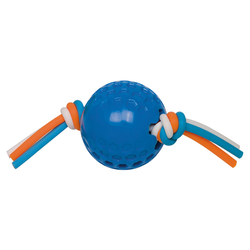 Nobby TPR Ball mit Silikonband blau, Maße: 7,5 cm