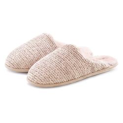 LASCANA Hausschuh Pantoffel aus kuscheligem Material rosa 38/39 (M)