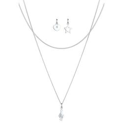 Elli Ketten-Set Layer Set Note Kristalle 925 Silber