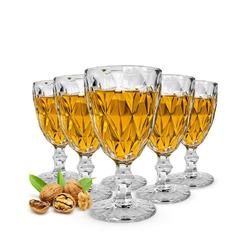 Sendez Weinglas 6 Weingläser mit Schliff 300ml auf Fuß Rotweingläser Weißweingläser Trinkgläser Gabi