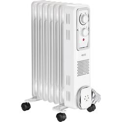 ECG Ölradiator OR 1570, 1500 W, Ölradiator mit 7 Rippen, 3 Leistungsstufen 500 / 1000 / 1500 W, Äußerst leise