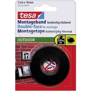 TESA OUTDOOR 55750 Montageband tesa® Powerbond Schwarz (L x B) 1.5m x 19mm 1St.