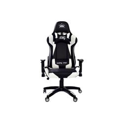 Midori Gaming Chair (1 Stück), Racing Stuhl Bürostuhl Drehstuhl Sportsitz Chefsessel Gaming inkl. Kissen, MIDORI© Racing Stuhl Bürostuhl Drehstuhl Sportsitz Chefsessel Gaming inkl. Kissen weiß