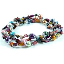 Guru-Shop Perlenkette Bunte Perlenkette