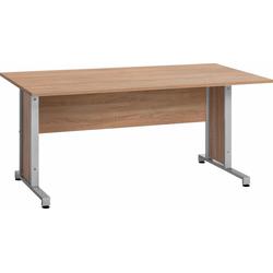 Maja Möbel Schreibtisch System, mit Kabeldurchlass in der Arbeitsplatte natur