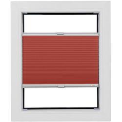 Plissee nach Maß Start-up Style Honeycomb, sunlines, verdunkelnd, verspannt, mit Spannschuh zum Anbohren rot