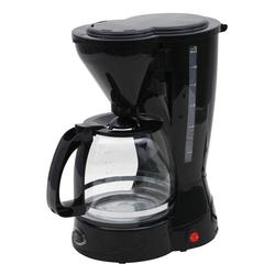 DESKI Filterkaffeemaschine, 1.5l Kaffeekanne, Dauerfilter oder Papierfilter 2, Kaffeemaschine 12 Tassen Filterkaffeemaschine Glas Kanne Kaffee Maschine 800W schwarz