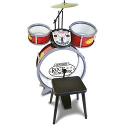 Bontempi Spielzeug-Musikinstrument Schlagzeug mit Hocker