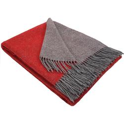 Wolldecke Wohndecke Merinowolldecke Wolldecke Plaid 140 x 200 cm Doubleface in vielen Farben erhältlich, STTS rot