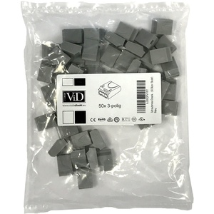 ViD® Schraubenlose Dosenklemme grau (50 Stück/Beutel)