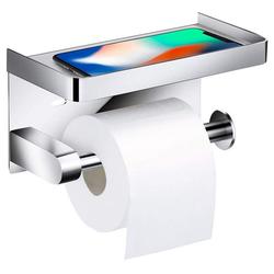 kueatily Toilettenpapierhalter Toilettenpapierhalter ohne Bohren Selbstklebender Toilettenpapierhalter aus Edelstahl 304 für Badezimmer (Silber)