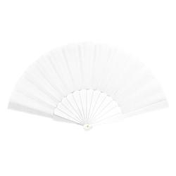 Handfächer Damen Fächer Wandfächer Fasching Karneval Party - weiß