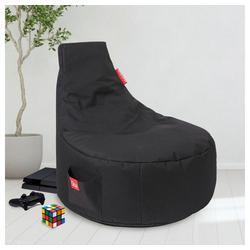Sitzsack Gaming Sitzsack, große seitliche Tasche schwarz