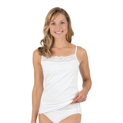Trigema Unterhemd, mit Spitze weiß L