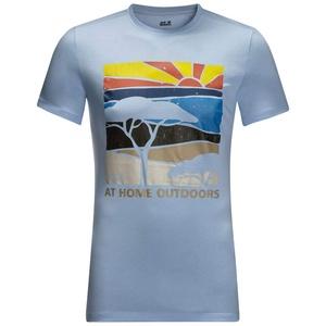 Jack Wolfskin Herren Savannah T-Shirt, cool Water, L