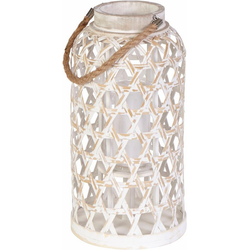 Home affaire Laterne Bambus und Glas