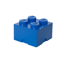 LEGO® Aufbewahrungsstein mit 4 Noppen in Blau