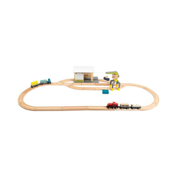 Small Foot Spielzeug-Eisenbahn Güterbahnhof mit Zubehör
