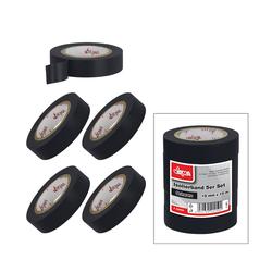 Isolierband Klebeband 5er Set Schwarz 15mm x 10m Eelektriker Tape selbstklebend