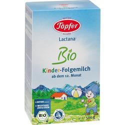TÖPFER Lactana Kinder Bio Folgemilch Pulver 500 g