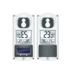 BRESSER Thermometer Solar Fenster Thermometer mit Saugnapf