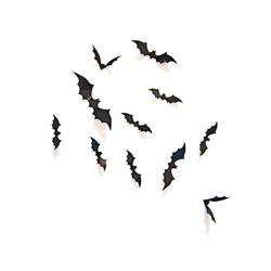 3D Fledermäuse 12er Set Halloween Wandtattoo Wandsticker Wanddeko