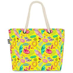 VOID Strandtasche (1-tlg), Pool Party Flamingos Beach Bag Sommer Strand Urlaubs-Reise Swimming-Pool