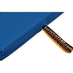 Geräteturnmatte mit Trageschlaufen blau - 200 x 100 x 8 cm