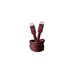 FRESH 'N REBEL Fabriq USB-C auf USB-C Kabel 1 5m  Ruby Red