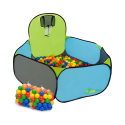 LittleTom Spielzelt Kinderspielzelt Bällebad-Pool Pumba + 200 Bälle Bällebadbälle Bällepool Set