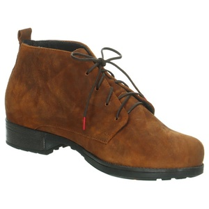 Think! Leder-Ankle-Boots in Hellbraun - 40