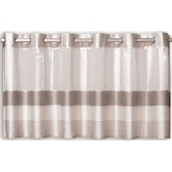 Scheibengardine Scheibengardine Ösengardine Bistrogardine Küchengardine 2221 Natur Grau Beige 50x140 cm, EXPERIENCE, Ösen (1 Stück), mit 12 Ösen