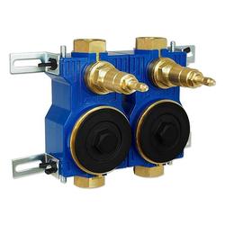 Wasserzähler-Montageblock ZENNER 2'' für Unterputz-Installation - 124090