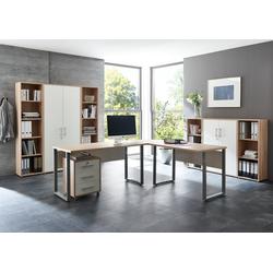 moebel-dich-auf Büromöbel-Set Office Edition, (Büromöbel abschließbar, Set 5) natur