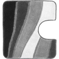 Badeteppich grau Größe: 55x50 cm