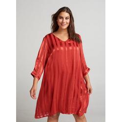 Zizzi Abendkleid Damen Große Größen Kleid Elegant 3/4 Arm Streifen Abendkleid M (46/48)