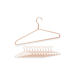 relaxdays Kleiderbügel 12 Kleiderbügel in Kupfer