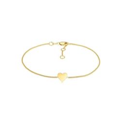 Elli Armband Valentinstag Herz Anhänger Liebe 375er Gelbgold