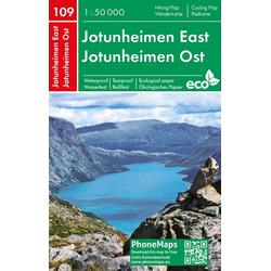 Jotunheimen Ost Wander - Radkarte 1 : 50 000