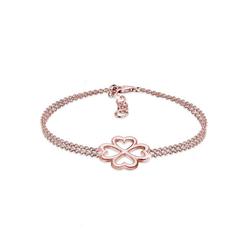 Elli Armband Kleeblatt Glücksbringer Luck 925 Silber rosa