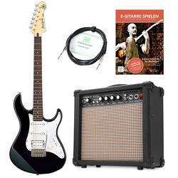 Yamaha Pacifica 012 BL E-Gitarre Set inkl. Amp + Kabel, Schwarz