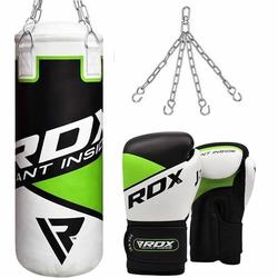 RDX R8 2ft Boxsack & Handschuhe Set (Größe: 6 Unzen, Farbe: Grün)