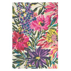 Wollteppich Floreale (Rosa; 200 x 280 cm)