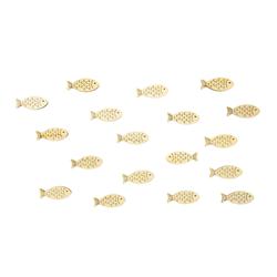 18 Holz Fische Streudeko Tischdeko Taufdeko Taufe Kommunion Konfirmation Firmung Deko - natur