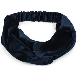 styleBREAKER Haarband Haarband Samt mit Twist Knoten, 1-tlg., Haarband Samt mit Twist Knoten blau