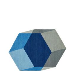Iso Teppich Hexagon Blau  Puik